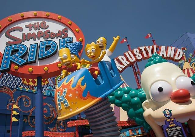 El increíble juguete de los Simpsons en Orlando