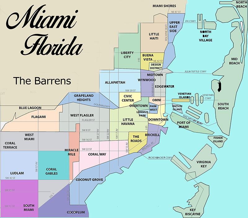 Mapa turístico de Miami
