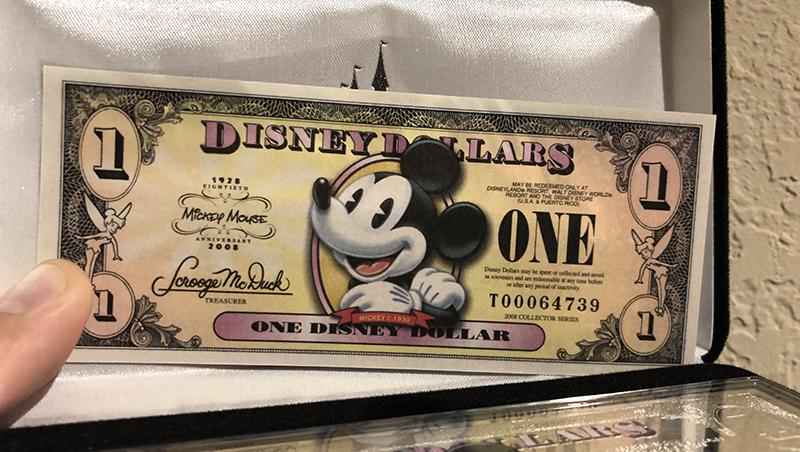 Dólar Disney – el dinero de Disney