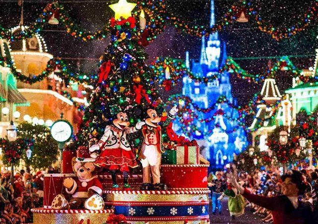 Navidad en los parques de Disney Orlando en diciembre