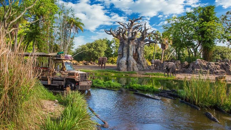 Mapa del Parque Disney Animal Kingdom en Orlando