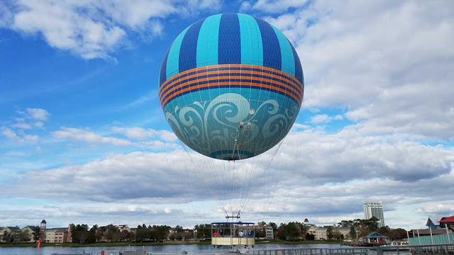Paseo en globo en Disney Springs en Orlando