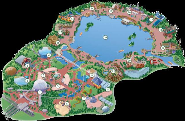 Cómo se divide el parque Epcot en Disney en Orlando