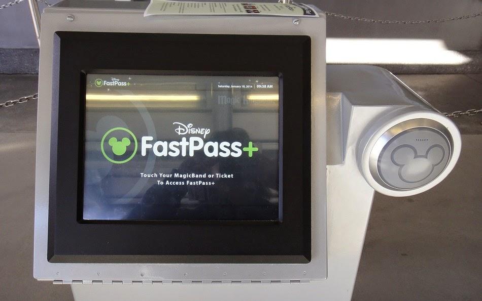 Dispositivo de FastPass+ en los parques de Disney