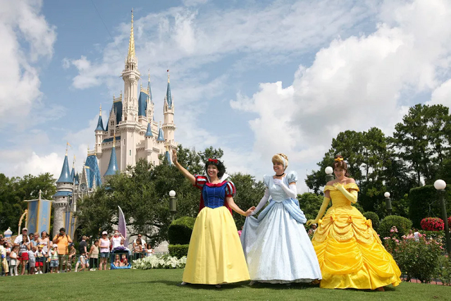 Princesas en Parque Disney Magic Kingdom en Orlando