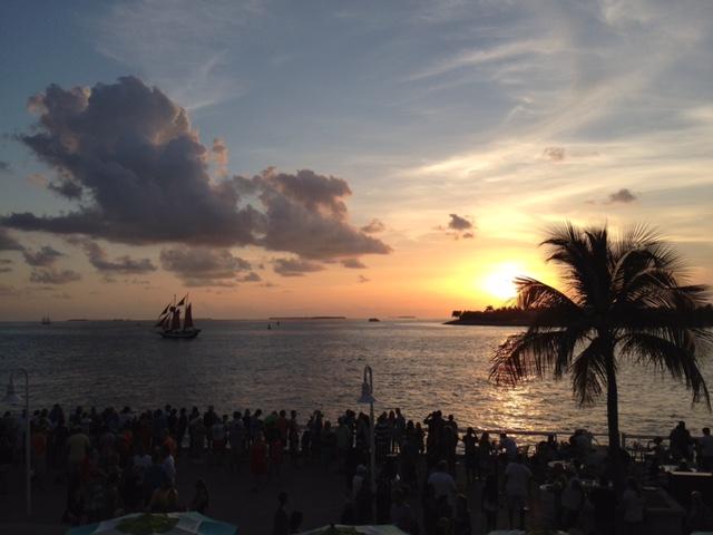 Atardecer en el Mallory Square en Key West