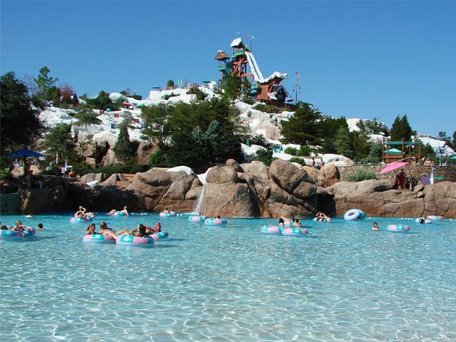 Pensonas en parque acuático Blizzard Beach Orlando