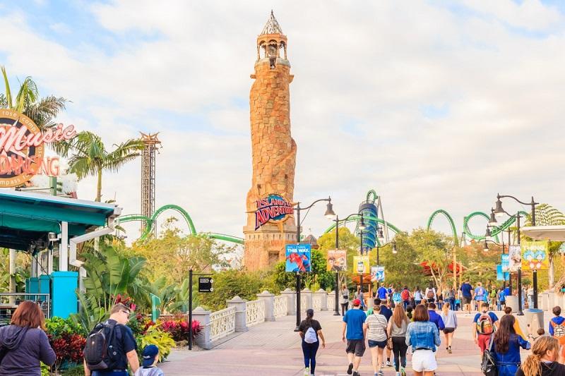 Mapa del parque Islands of Adventure en Orlando