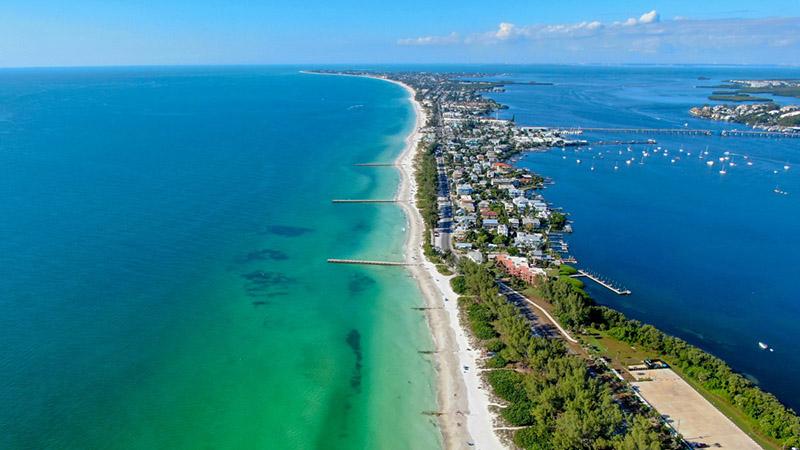 Ciudad de Anna Maria Island en Florida