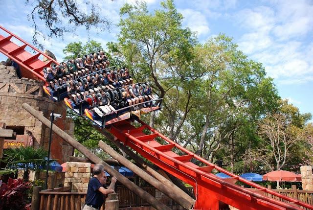 Montaña-rusa Sheikra en Busch Gardens