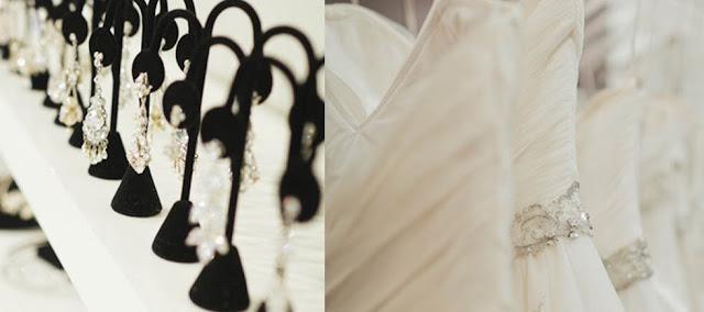 Accesorios y vestidos en Solutions Bridal en Orlando