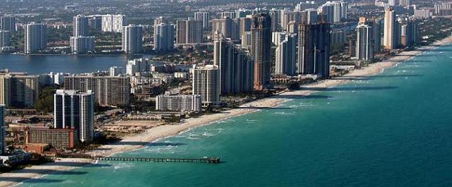Playa de Hollywood Beach en Miami