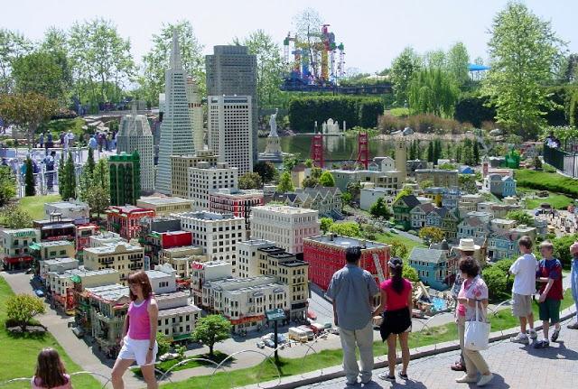 Miniland USA en el parque de Lego