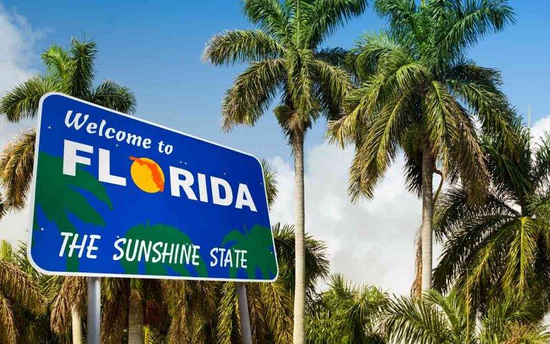 Mapa de las ciudades de Florida