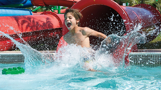 LEGO Twin Chasers en el parque acuático Legoland en Orlando