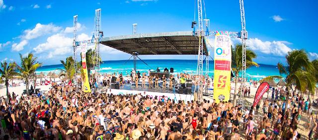 Personas en Spring Break em Miami