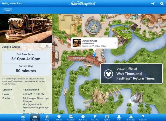 Aplicación de Disney World Orlando: mapa