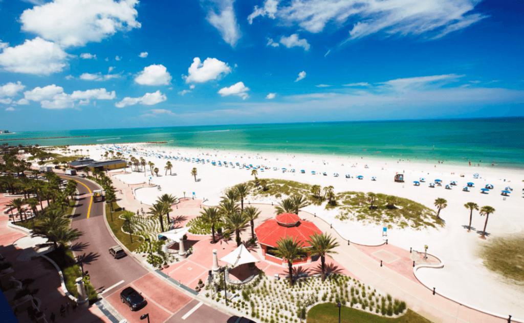 Playa de Clearwater en la Florida