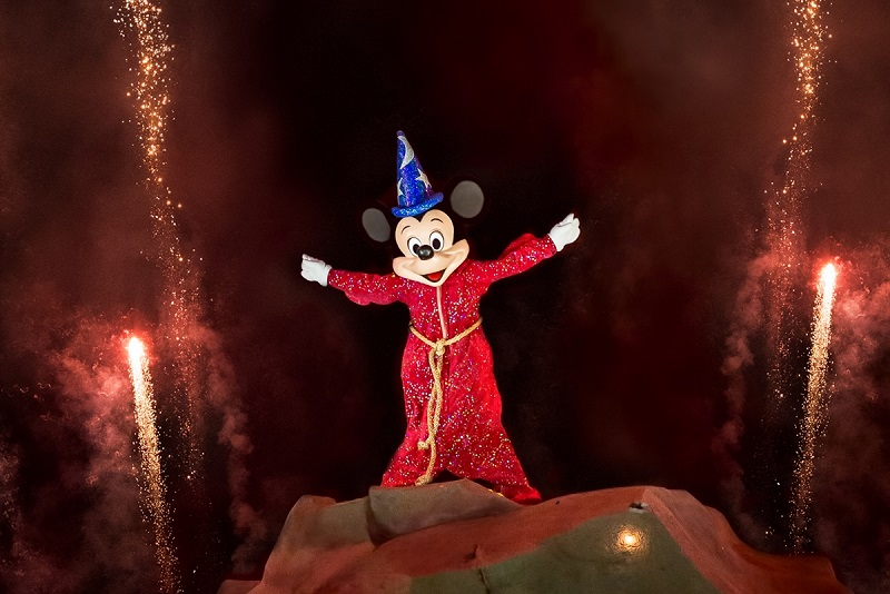 Show Fantasmic de Disney en parque Hollywood Studios